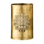 gold metal candleholder