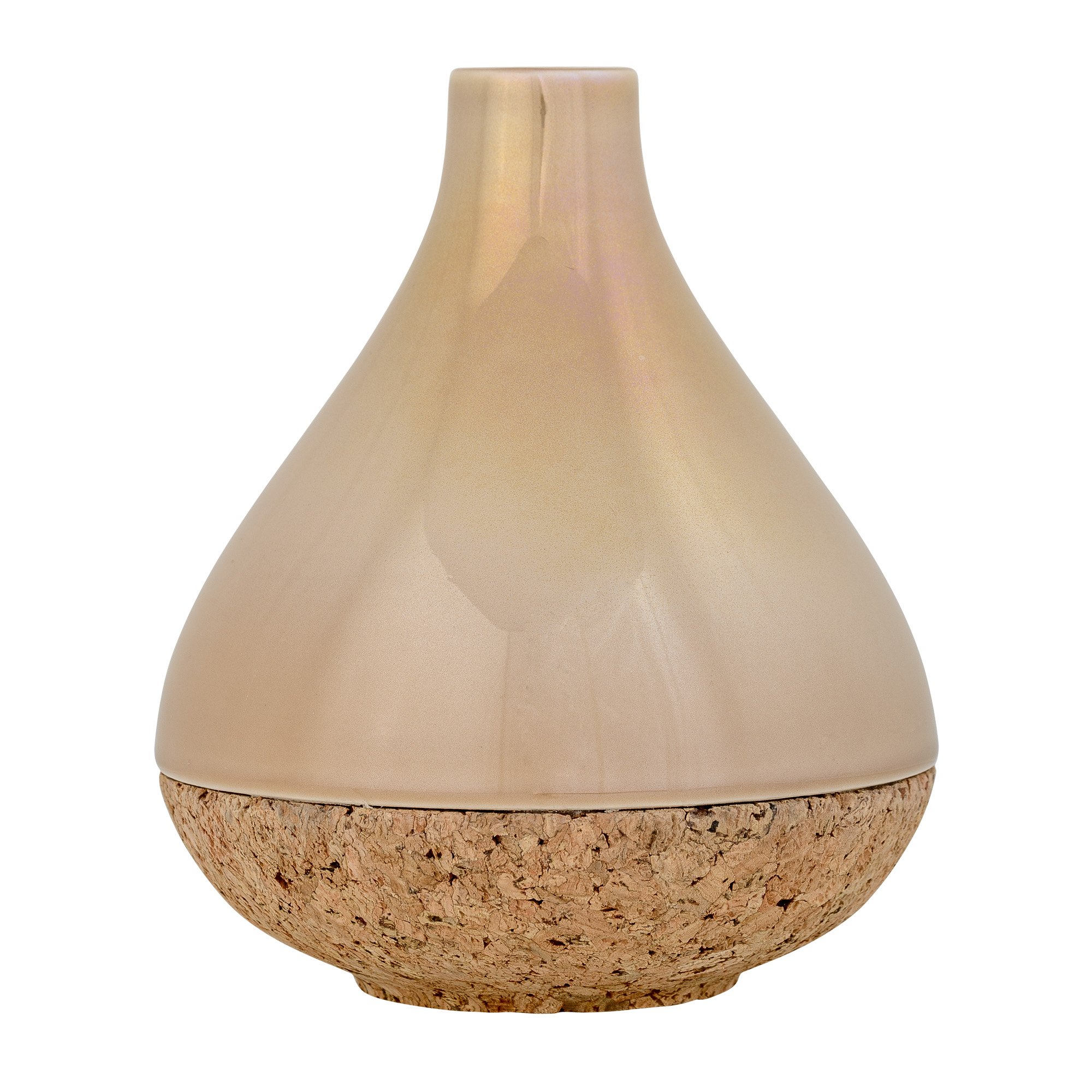 nature and stoneware ceramic beige vase