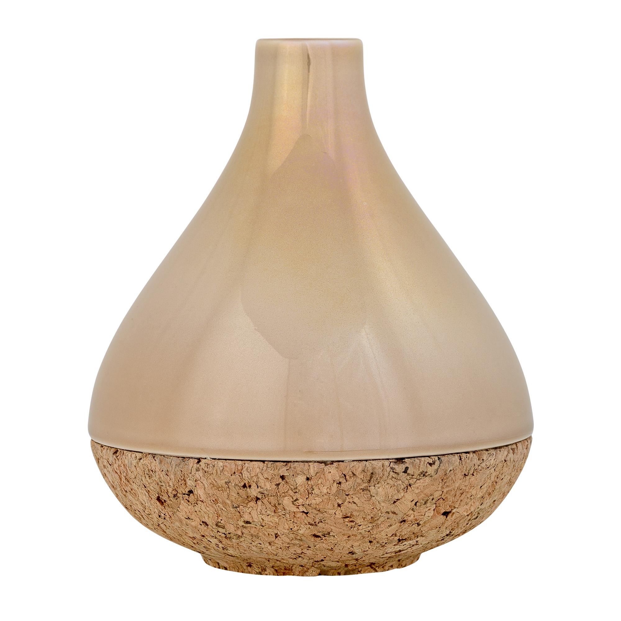 nature and stoneware ceramic beige vase