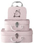Children pink suitcases