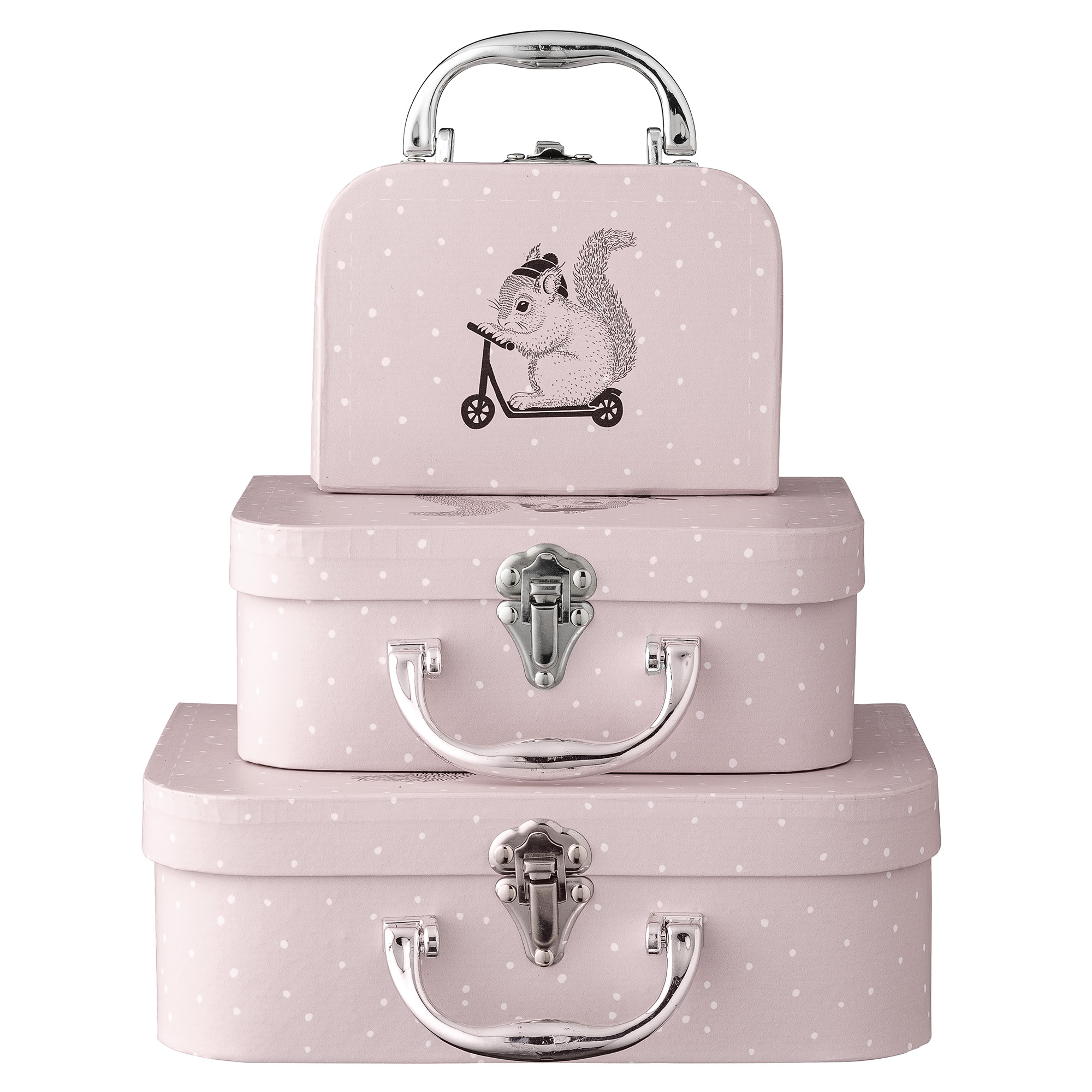 Children pink suitcases