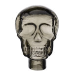 Luxury grey glass skull as a statement decoration for home