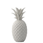 White ceramic pineapple decoration