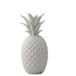 White ceramic pineapple decoration