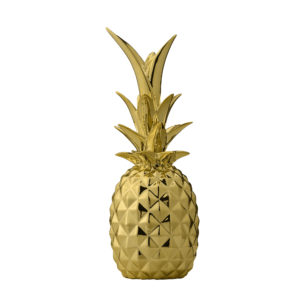 Gold pineapple decorative object from ceramic