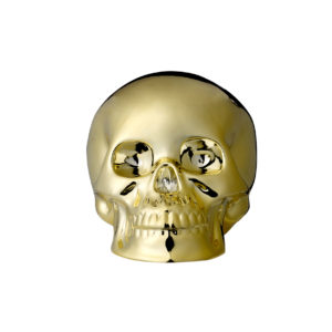 gold skull home decoration made of porcelain