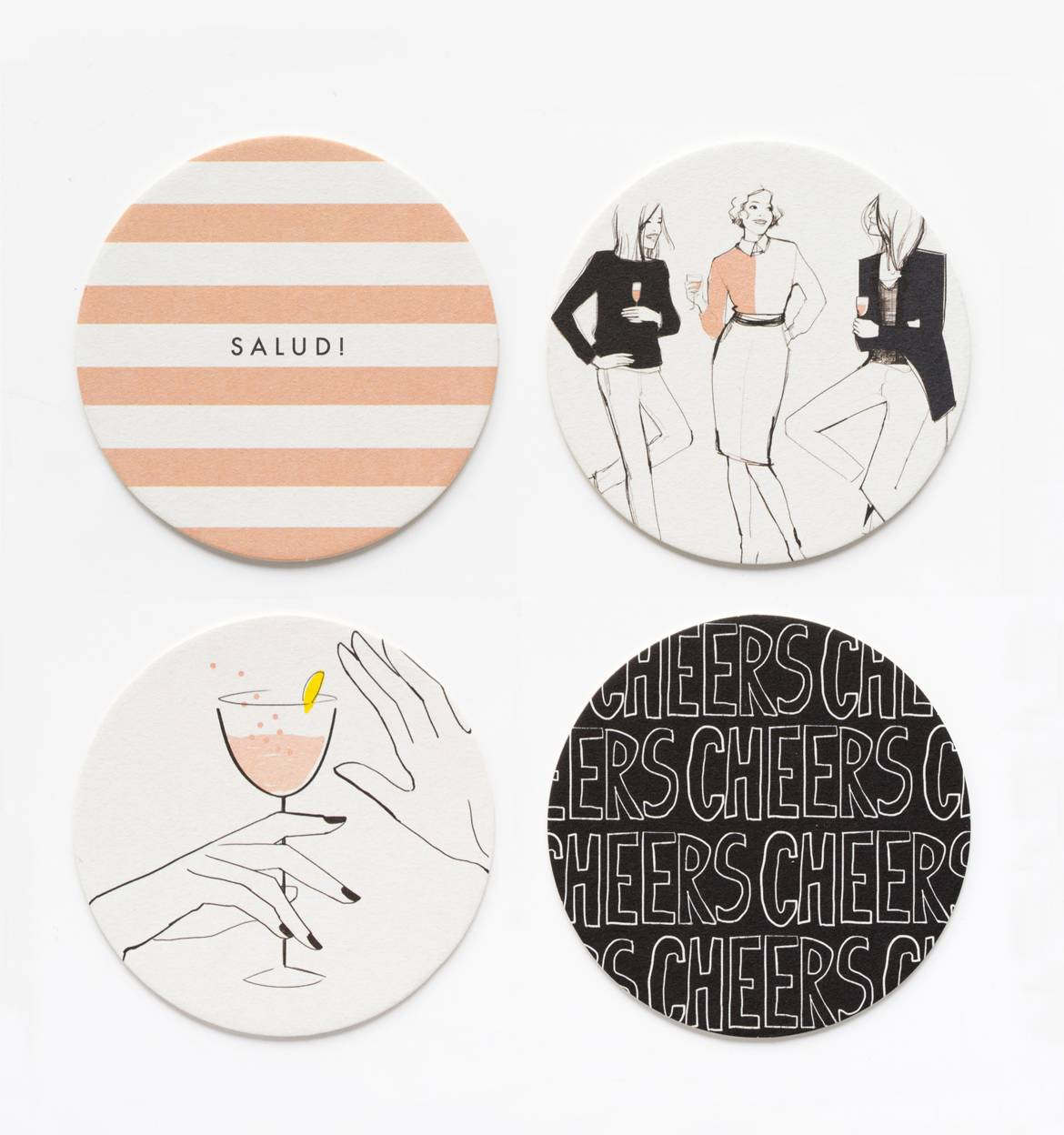 Cheers coaster set by garance dor les gifts for Coaster design ideas
