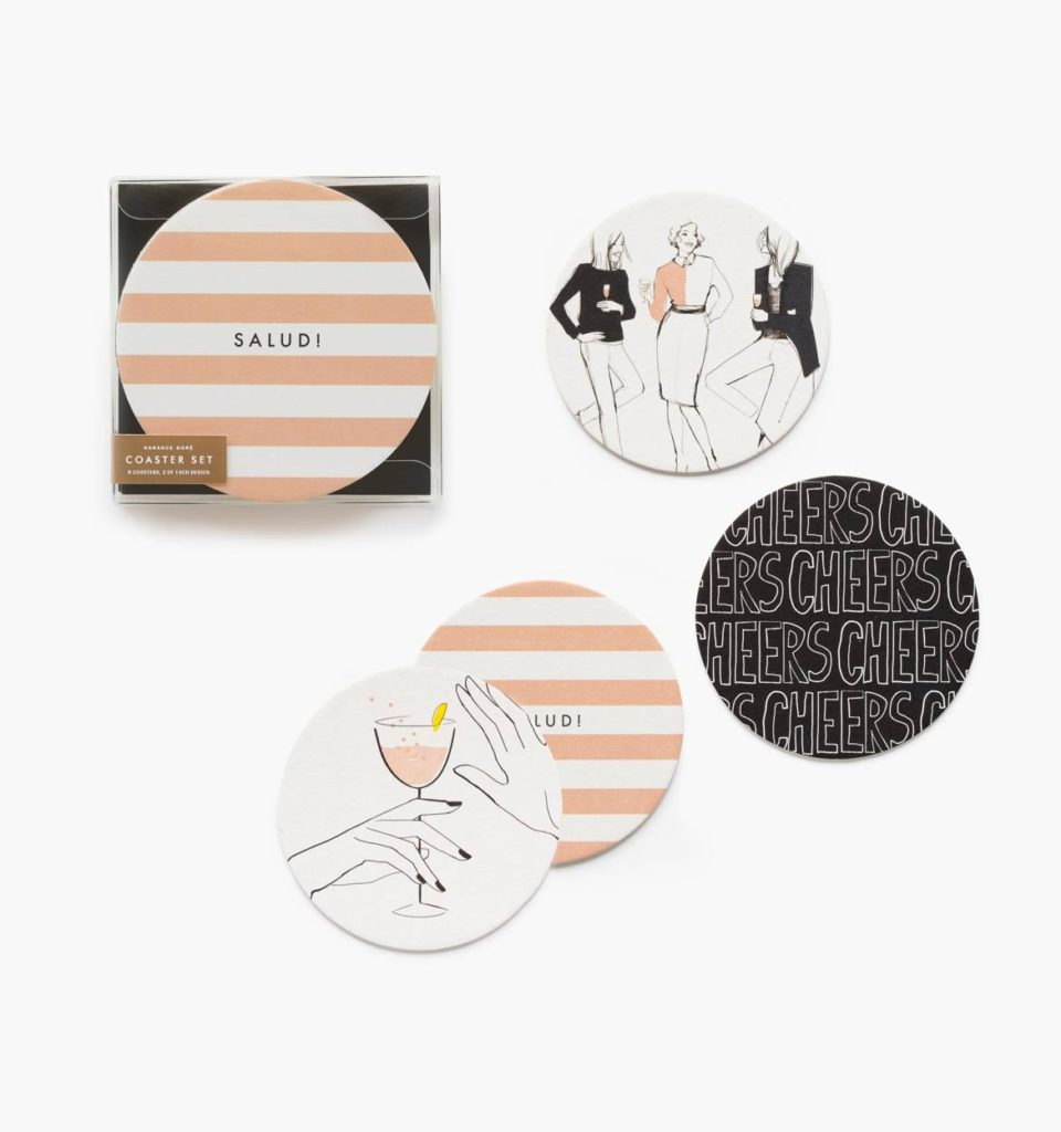 Cheers beverage coasters garance dore gift box