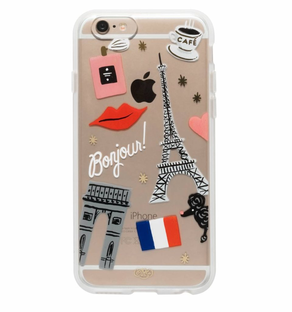 french style iPhone mobilskal present