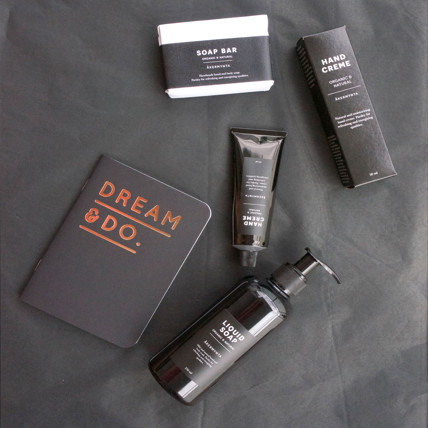 luxury black gift box set body care