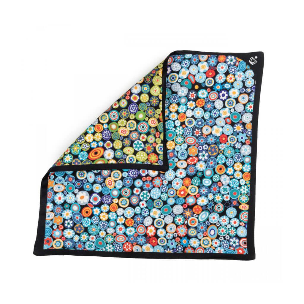 silk twill printed pocket square