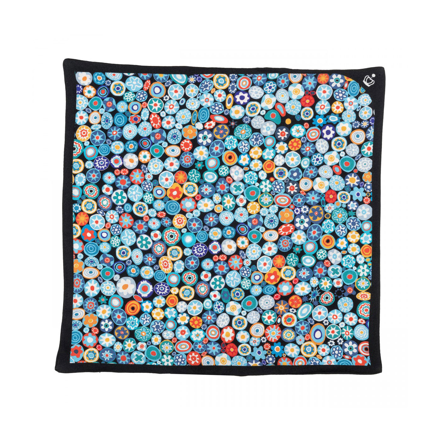 silk twill printed pocket square