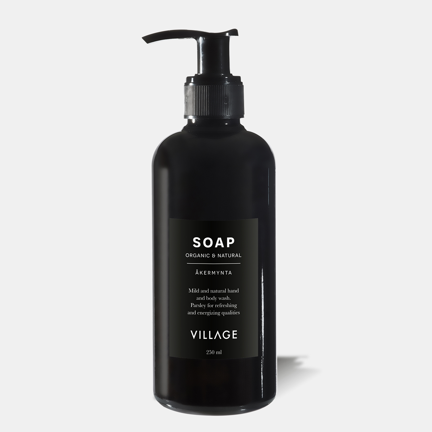 gift liquid soap for body and hands with wild mint scent