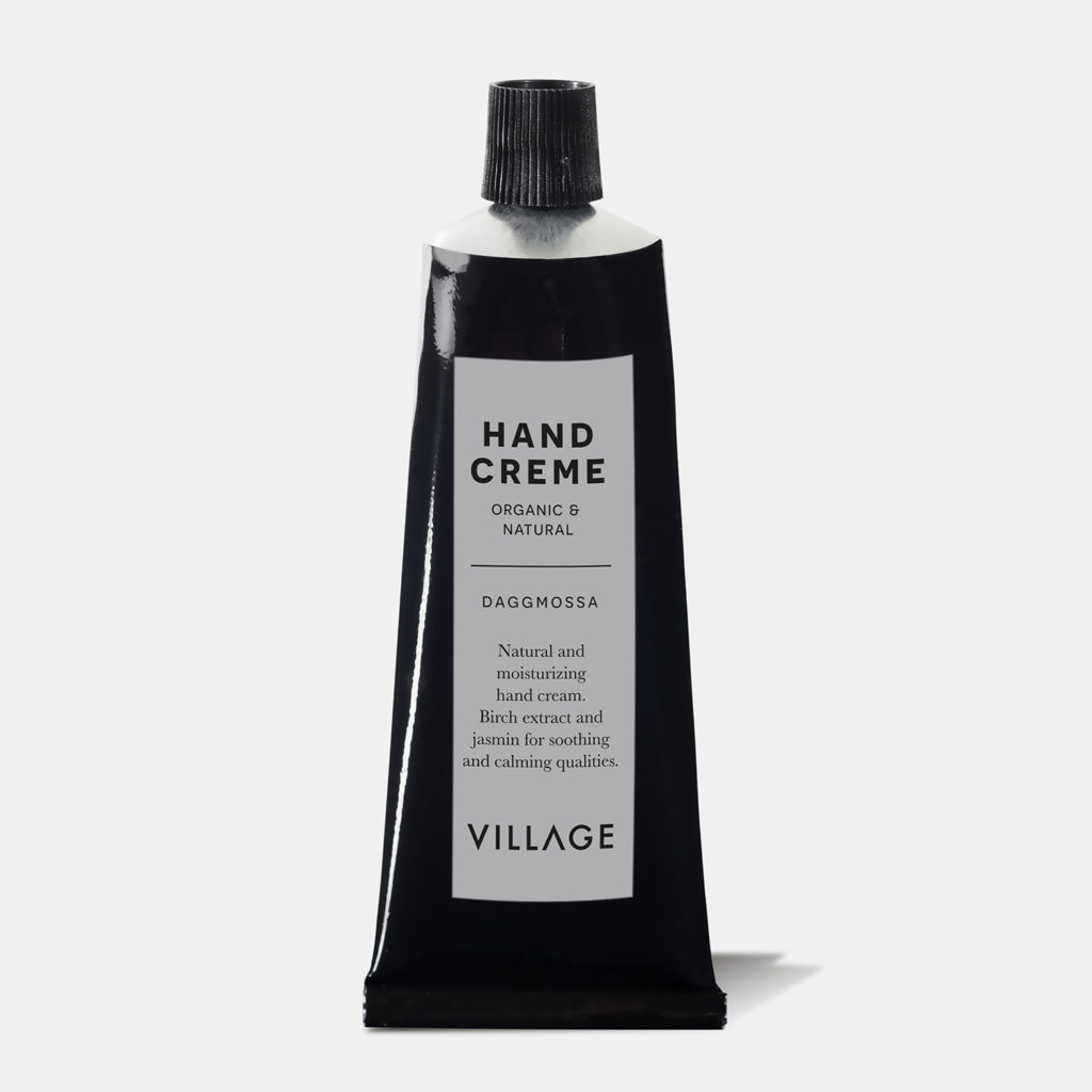 organic and ecologic hand creme from village daggmossa with rose and grapefruit scent