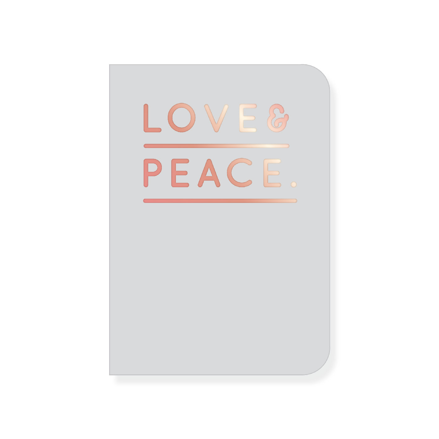 anteckningsblock notebook love peace grey gift navucko