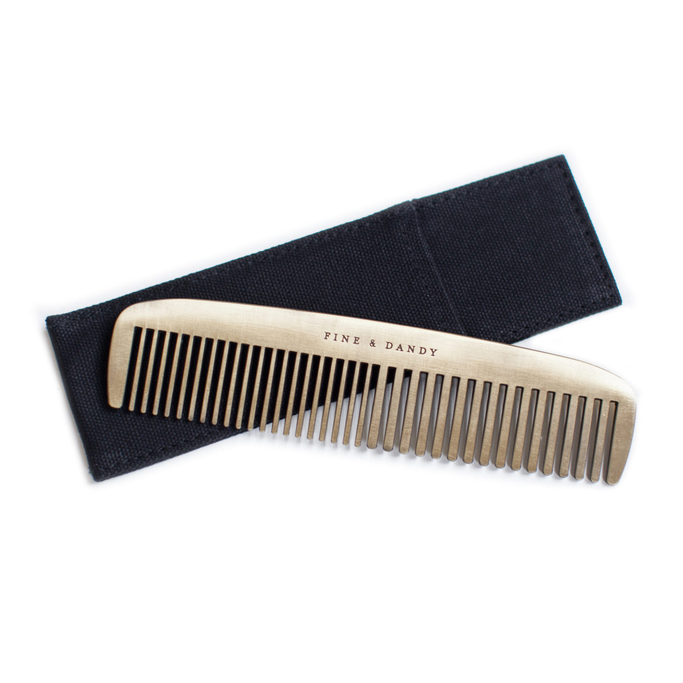 brass comb fine & dandy from izola gift for men