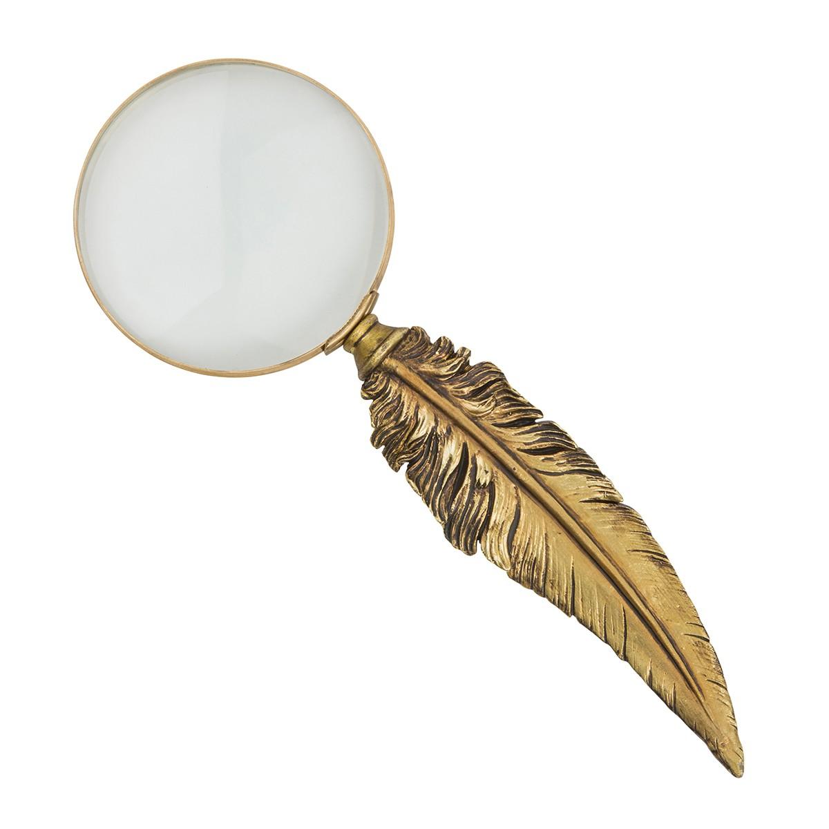 forstoringsglas fjader anglais gold leaf mässing
